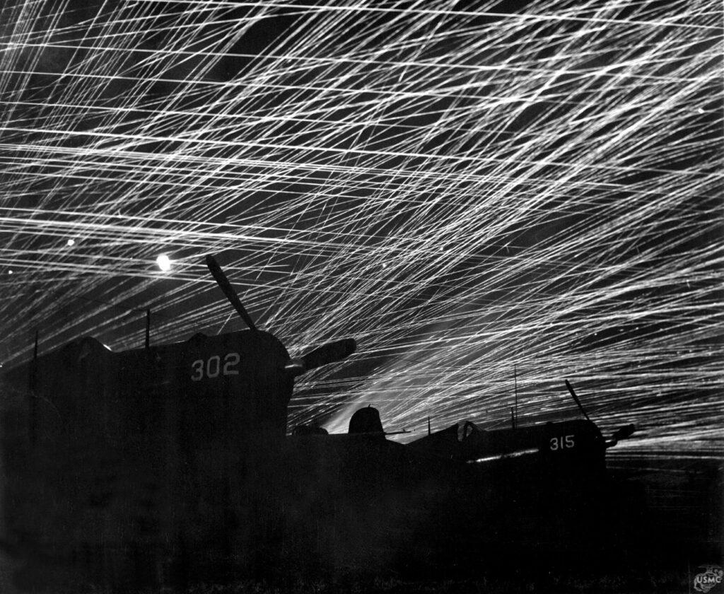 anti aircraft fire usa japan yontan