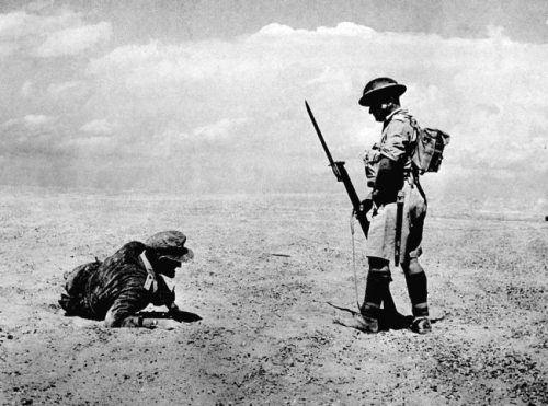 british sentry german officer ww2