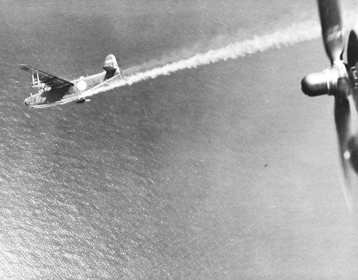 japanese airplane shot down usa ww2