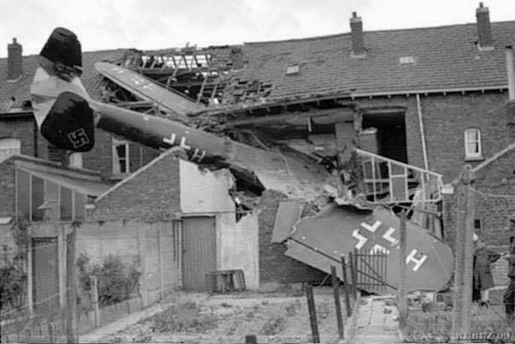 luftwaffe aircraft crashed