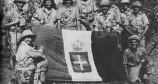 south african soldiers italian flag ww2