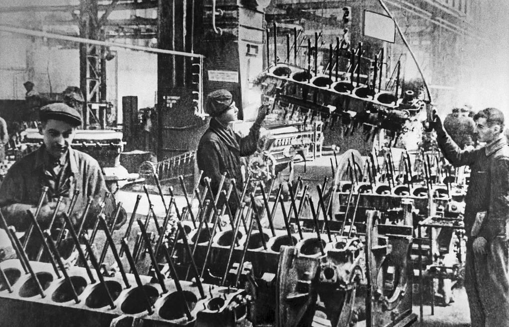 tank factory soviet union ww2