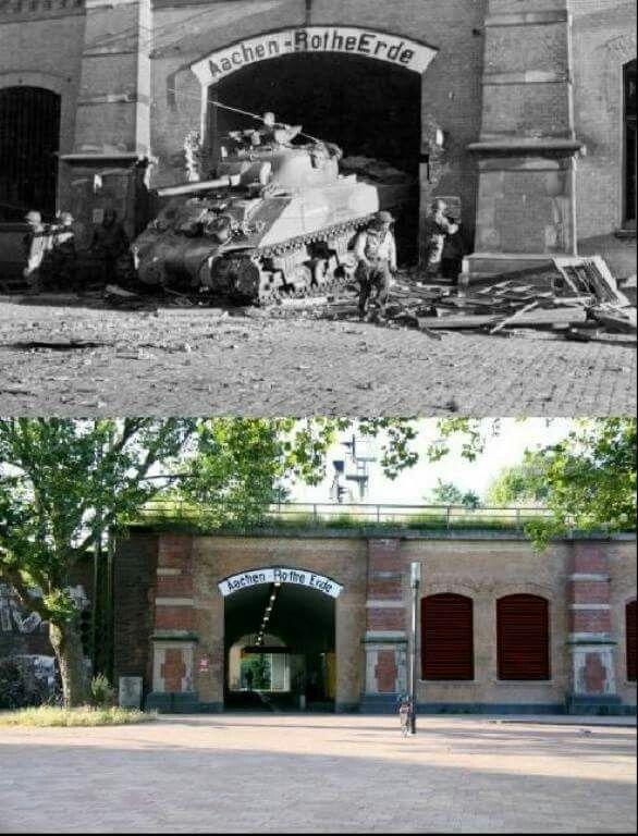 then and now aachen world war II 1944