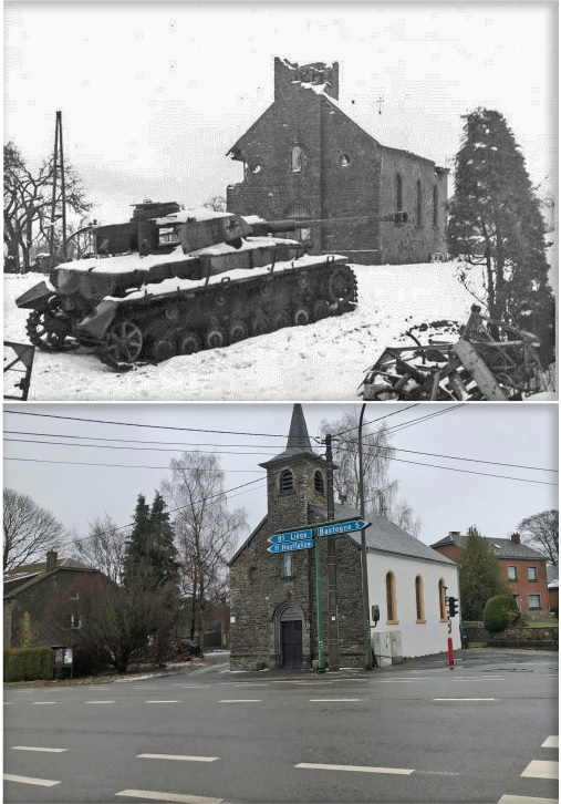 then and now foy bastogne battle of the bulge