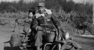 us soldier chinese kid motorcycle ww2