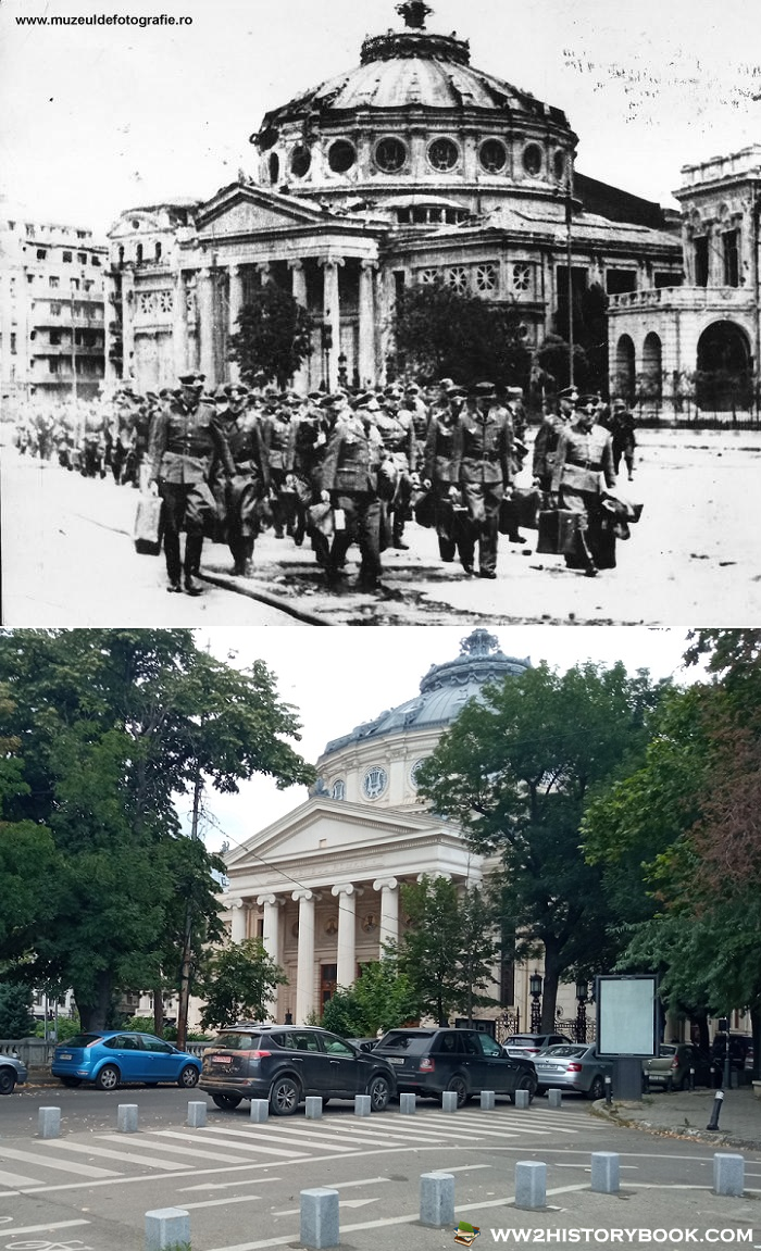 bucharest athenee ww2 then and now